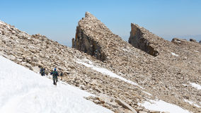 Hiking Гора Уитни Стоковая Фотография