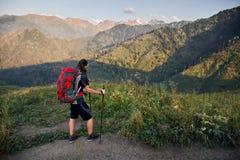 hiking гора стоковое фото