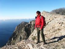 hiking горы Стоковое Фото