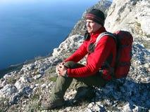 hiking горы Стоковое Изображение