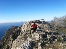 hiking горы Стоковые Изображения RF