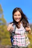 Hiking девушка Стоковое Фото