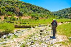 Hiking девушки Стоковое Изображение