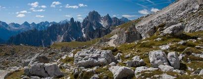 hiking доломитов Стоковое Фото