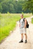 hiking древесины человека Стоковое фото RF