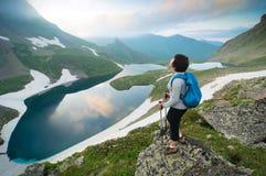 hiking женщина Стоковое Изображение RF
