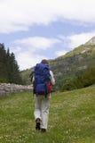 hiking женщина Стоковое Фото