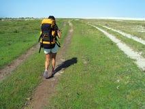 hiking женщина стоковые изображения rf