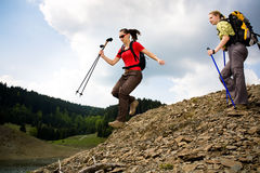Hiking женщины Стоковая Фотография RF