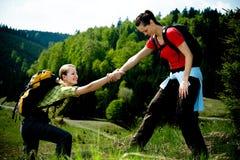 Hiking женщины Стоковое Изображение