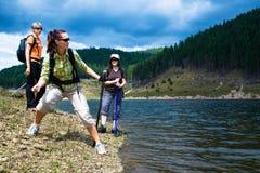 Hiking женщины 2 Стоковые Фото