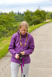 Hiking женщины Стоковое фото RF