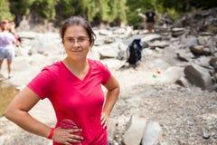 Hiking женщины Стоковое Фото