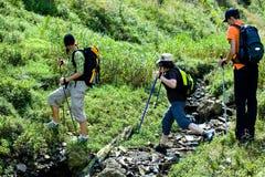 Hiking женщины 4 Стоковая Фотография