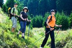 Hiking женщины 5 Стоковые Фото