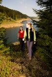Hiking женщины Стоковые Изображения RF