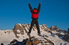 hiking зима гор Стоковые Фото