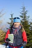 hiking зима гор Стоковые Изображения
