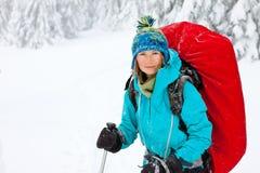 hiking зима гор Стоковое фото RF