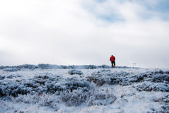 hiking зима стоковая фотография rf