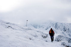 hiking зима стоковое изображение