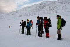 hiking зима стоковая фотография