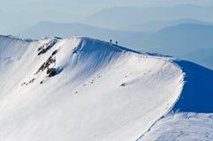 Hiking зимы Стоковые Изображения RF