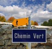 hiking знак Стоковая Фотография