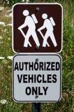 hiking знак Стоковое Изображение RF