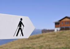 hiking знак Стоковые Фотографии RF