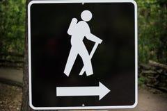 hiking знак Стоковая Фотография RF