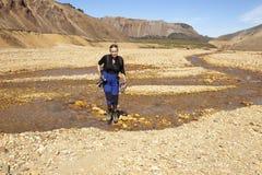 Hiking, Исландия Стоковая Фотография