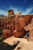 hiking каньона bryce Стоковое Изображение