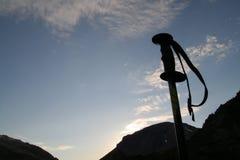hiking кольцо полюса горы Стоковые Изображения RF