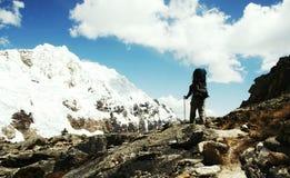 hiking кордильер Стоковые Изображения RF