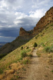 hiking критической точки Стоковые Фотографии RF