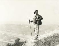 Hiking к верхней части Стоковое Изображение