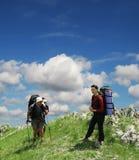 hiking лето Стоковая Фотография