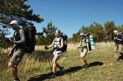 hiking лето стоковое изображение rf
