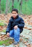 hiking мальчика Стоковое фото RF