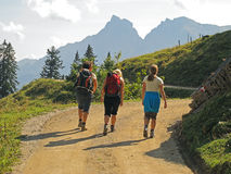 Hiking место от позади Стоковое Изображение RF