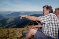 hiking мои родители Стоковые Изображения