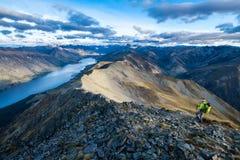 hiking Новая Зеландия Стоковые Изображения RF