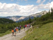 hiking отключение Стоковые Фотографии RF