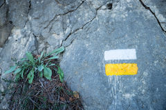 hiking отметка стоковое изображение rf