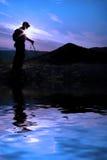 hiking отражение Стоковые Изображения RF