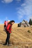 hiking отца ребенка Стоковая Фотография RF