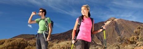hiking панорама Стоковое Изображение RF