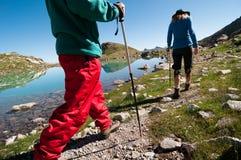 hiking пар Стоковое Изображение