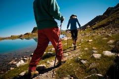 hiking пар Стоковые Фотографии RF